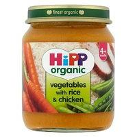 HiPP Organic Vegetables with Rice & Chicken 4+ Months 125g