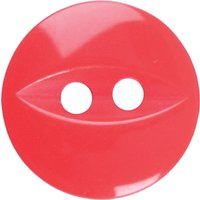 Groves Fish Eye Button, 16mm, Pack of 6, Red