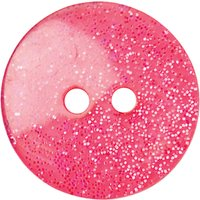 Groves Glitter Button, 17mm, Pack of 3, Pink