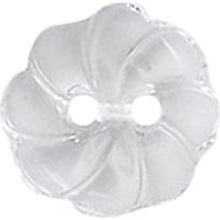 Groves Patterned Button, 12mm, Pack of 4, Translucent