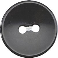 Groves Rimmed Button, 16mm, Pack of 7, Black