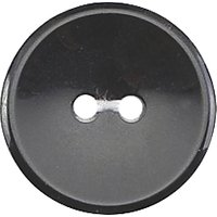 Groves Rimmed Button, 19mm, Pack of 5, Black