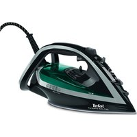 TEFAL Turbo Pro FV5640 Steam Iron - Black & Green, Black