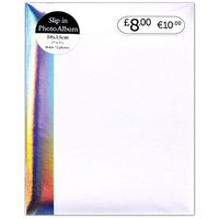 White Iridescent Bind 72 Pocket Photo Album - 7x5