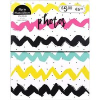 Multicolour wave design photo album 6x4 - 40 photos