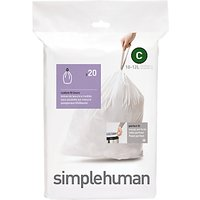 simplehuman Bin Liners, Size C, Pack of 20