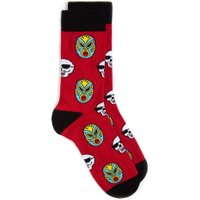 Mens Red Mexican Motif Socks, Red
