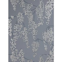 John Lewis & Partners Silver Berries Wallpaper, Steel