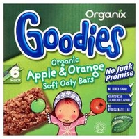 Organix - Goodies Apple & Orange Soft Oaty Bars from 12+ Months x 6