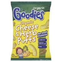 Organix Goodies Organic Cheese & Herb Puffs 15g
