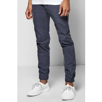 Woven Joggers With Elasticated Waitsband - navy