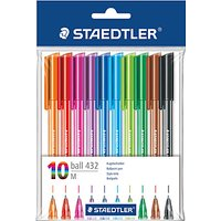 Staedtler Ballpoint Multi Coloured Pens, Pack of 10