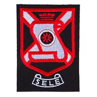 The Sele School Blazer Badge, Black/Red