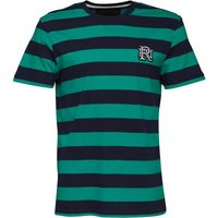 Front Up Rugby Mens Marshall Stripe T-Shirt Emerald Green
