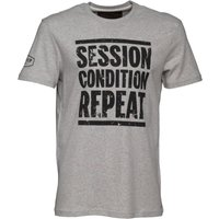 Front Up Rugby Mens Collins Logo T-Shirt Front Up Heather