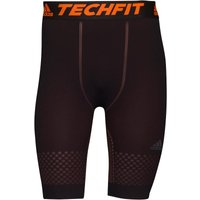adidas Mens TechFit Primeknit ClimaCool Fitted Tight Shorts Black/Solar Orange