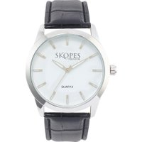 Skopes Mens Round Face Watch, Black