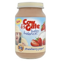 Cow & Gate Baby Balance Stages 2 & 3 Strawberry Yogurt 200g