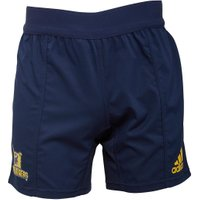 adidas Mens Super Rugby Highlanders Territory Shorts Collegiate Navy/Bold Gold