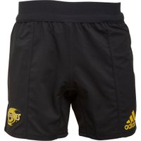 adidas Mens Super Rugby Hurricanes Territory Shorts Black/Bold Gold