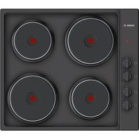 BOSCH PEE686CA1 Electric Solid Plate Hob - Black, Black