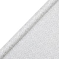 John Lewis & Partners Grey Ditsy Floral Heart Gift Wrap, 3m
