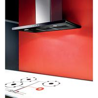 Elica Galaxy LED Chimney Hood, Stainless Steel/Black Glass