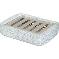 House by John Lewis Terrazzo Soap Dish, Navy