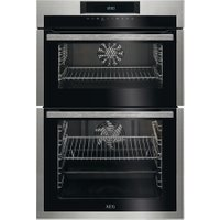 AEG DCE731110M Electric Double Oven - Stainless Steel & Black, Stainless Steel