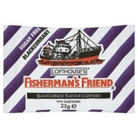 Fishermans Friend Blackcurrant Flavour Lozenges with Sweeteners 25g