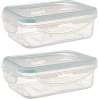 John Lewis & Partners Polypropylene Snack Pot Storage Containers, Set of 2, Clear, 240ml