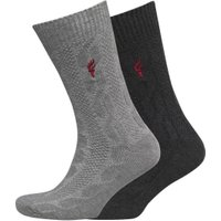 Onfire Mens Two Pack Socks Charcoal/Grey
