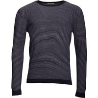 Onfire Mens Striped Crew Neck Sweater Navy/White