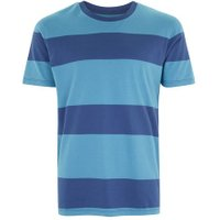 Mens Teal and Navy Stripe T-Shirt, Navy