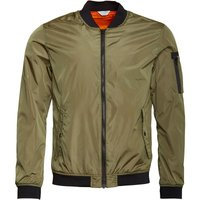 JACK AND JONES Mens Justin Bomber Jacket Lichen Green
