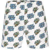Mens TOPMAN PRESENTS: FELICITY MARSHALL White Skull Motif Pull On Shorts, White