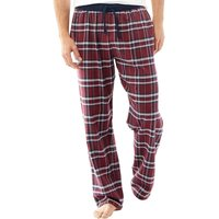 Fluid Mens Woven Check PJ Pants Navy/Burg/Green/White