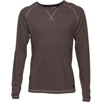 Fluid Mens Long Sleeve Jersey Top Charcoal