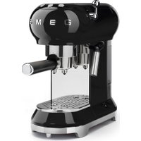 SMEG ECF01BLUK Coffee Machine - Black, Black