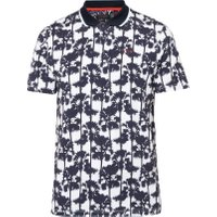 Men's Ted Baker Golfed Ss Palm Tree Print Golf Polo, White