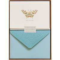 Portico Butterfly Just To Say Notecards, Box of 10