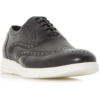Dune Bungee Wedge Casual Brogue Shoes, Black