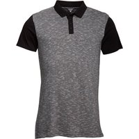 Fluid Mens Space Dyed Polo Black