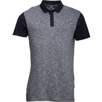 Fluid Mens Space Dyed Polo Navy