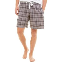 Onfire Mens Woven Check PJ Shorts Charcoal Check