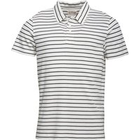Onfire Mens Yarn Dyed Striped Polo Ecru/Navy