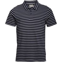 Onfire Mens Yarn Dyed Striped Polo Navy/Ecru