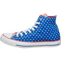 Converse CT All Star Hi Polka Dot Trainers Blue/White/Red