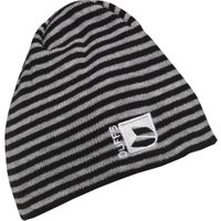 DuFFS Boys Striped Beanie Hat Black/Grey Marl
