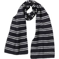 Kangaroo Poo Boys Knitted Striped Scarf Navy/Grey Marl